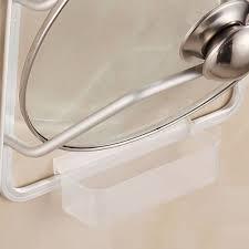 aluminum kitchen cabinet door pot pan lid holder space saver wall