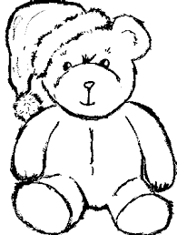 bear coloring pages 2 color cute teddy bear