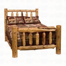 Wooden Log Beds Fireside Lodge Furniture Cedar Traditional Log Bed Santa Fe Ranch