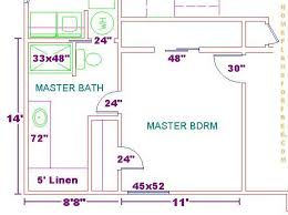 master bedroom bathroom floor plans floor plan for a 8x14 bath and 11x13 bedroom house