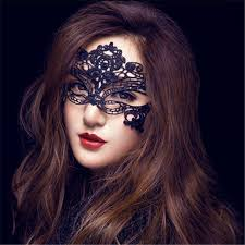 mask party women black lace mask party mysterious retro eye mask for