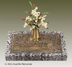 Cemetery Vases Bronze Expressions In Bronze Individual Grave Markers By Everlife Memorials