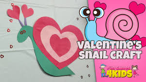 snail heart craft for kids valentine art project youtube