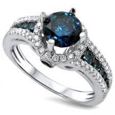 blue diamond wedding rings women s fashion blue diamond engagement ring blue sappahire bridal