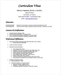 resume vitae template free cv template curriculum vitae template