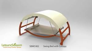 sbwc402 swing bed with canopy youtube