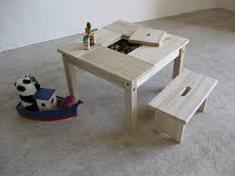 banc chambre enfant table enfant bois et petit banc avec rangement chambre d