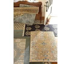 Pottery Barn Persian Rugs by Scroll Tile Rug Porcelain Blue Pottery Barn Au
