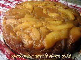 apple pear upside down cake tastingspoons