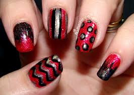 45 red and black nail designs polka dots nail art with red and