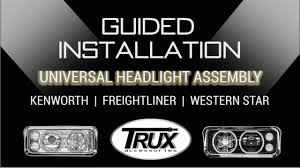 logo de kenworth trux u0027s universal headlight assembly guided installation