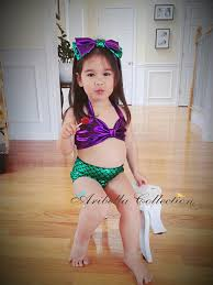 Mermaid Halloween Costume Kids Mermaid Swimsuit Piece Pieceruffle