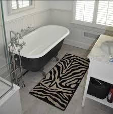 zebra print bathroom decor bring up the nature sensation in the