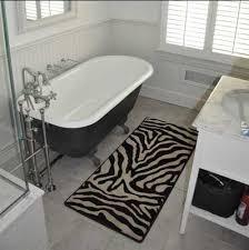 zebra print bathroom decor bring up the nature sensation in the