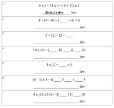 distributive property worksheets lessons and printables