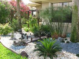 Rock Backyard Landscaping Ideas Florida Backyard Landscaping With Garden Design Custom Landscape