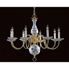 Blue Delft Chandelier Blue Delft Chandelier With 6 Arms From Ebay Lighting Pinterest