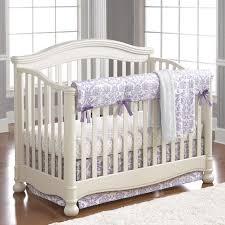 Lilac Damask Crib Bedding Abigail Lavender Damask Bumperless Crib Bedding Liz And Roo