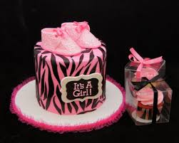 zebra baby shower pink and black zebra print baby shower cake it s a girl