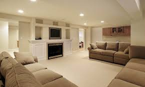 perfect clean white basement paint colors feat brown sectional