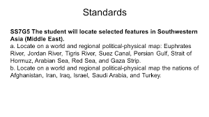 Southwest Asia Physical Map by Physical Features Of The Middle East Ppt Download