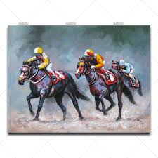 Horse Decoration For Home Online Buy Wholesale Horse Racing Painting From China Horse Racing