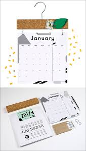 Modern Desk Calendar by 13 Modern Wall Calendars To Get You Organized For 2017 Contemporist