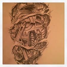 biomechanical tattoo design by thefuriousblacksmith on deviantart