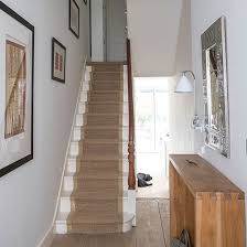 Decorating Hallways And Stairs Neutral Hallway With Seagrass Runner Decorating Hall And Staircases