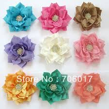 36ps lot 3 winter fabric flowers with starburst button kanzashi