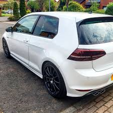 white volkswagen gti 2015 oryx white golf r with team dynamics pro race 1 3 wheels in