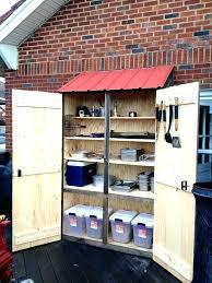 outdoor wood storage cabinet exterior storage cabinet outdoor storage closet full image for
