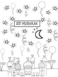 download eid mubarak coloring pages ziho coloring
