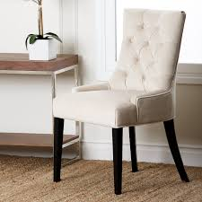 furniture upholstered dining bench chair with button tufted back