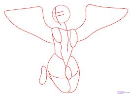how to draw a angel step by step christmas stuff seasonal free