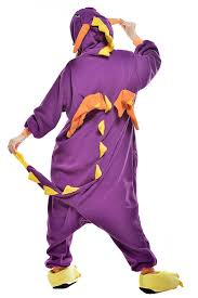 onesies for adults halloween amazon com newcosplay anime unisex purple dragon pyjamas