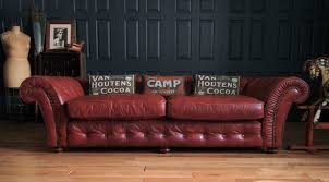 Chestnut Leather Sofa Grand Tetrad Blenheim Chesterfield Sofa In Chestnut Leather Rrp