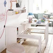 bureau et rangement rangement enfant multifonction tables bancs et étagères intégrés