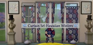 mod the sims 4 curtains set in 10 floral patterns