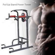 tomshoo chin up stand pull up bar dip power tower home gym fitness
