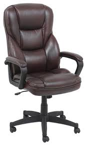 Realspace Chairs Realspace Fosner High Back Bonded Leather Chair 48 H X 28 38 W X