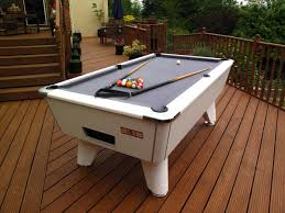 outdoor pool table installation for customer in bristol