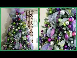 how to decorate a christmas tree with deco mesh deck the halls