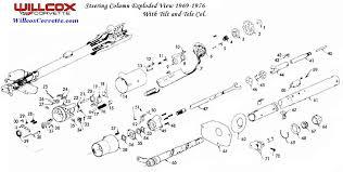 1968 corvette steering column 1969 1976 corvette steering column exploded view willcox