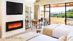 sierra flame slim line electric fireplace