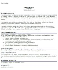 Sample Resume Interests by Sample Resume For Electrical Technician Haadyaooverbayresort Com