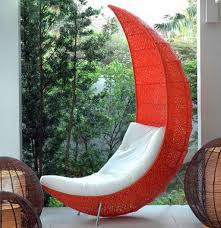 Lounge Outdoor Chairs Design Ideas Decorations Enchanting Orange Leaf Shaped Chair With
