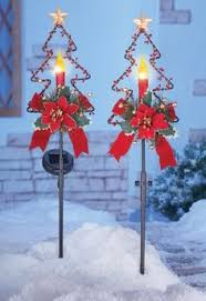 christmas outdoor decorations lighted spiral tree stakes use