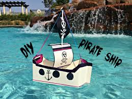 diy pirate ship using recyclables youtube
