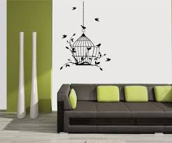 mesleep birds design black wall sticker amazon in home kitchen